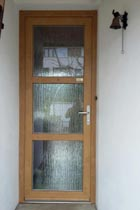 Porte d'entree PVC couleur bois