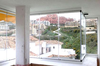 Fermeture de balcon avec vue panoramique