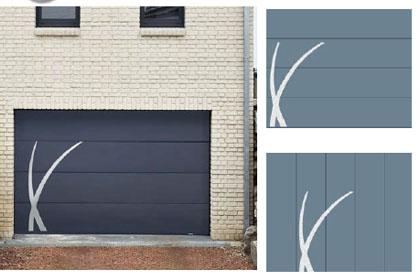 Porte de garage sectionnelle personnalisable