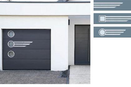 Porte de garage sectionnelle pour residence