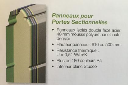 Portes De Garage PVC En Neuf Ou Rénovation Aix Les Bains Savoie - Porte de garage sectionnelle avec panneau de porte pvc