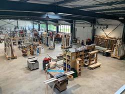 Menuiserie Jean Pache, fabrication en atelier de Mouxy Aix les Bains