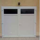 Porte de garage a  battant 2 vantaux PVC